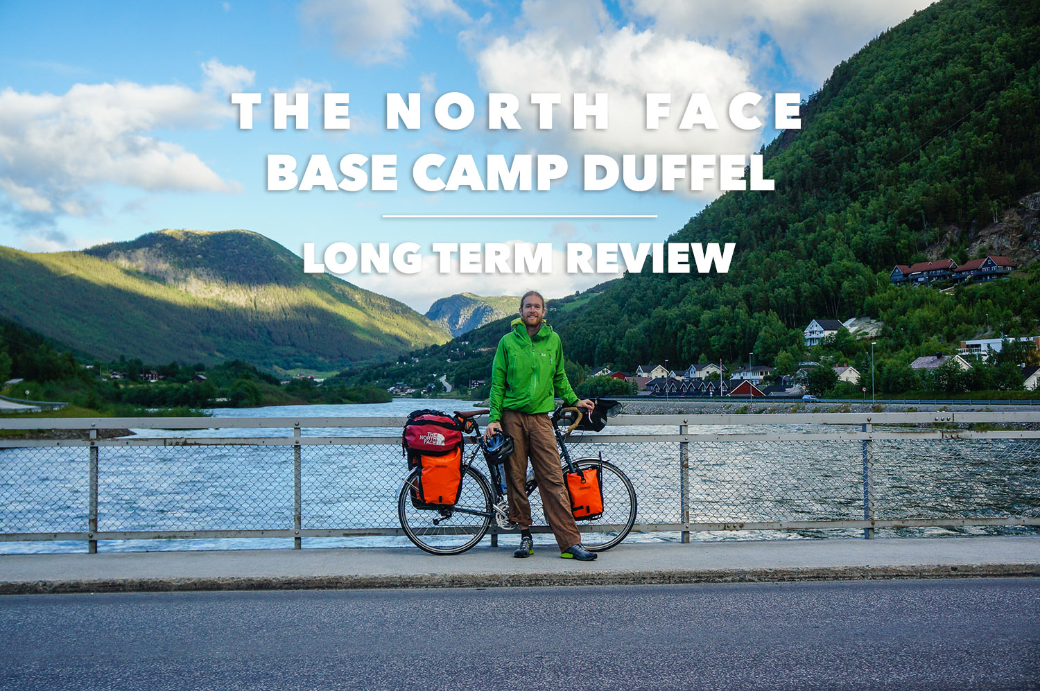 35b0f027d01b7 Gear Editor Maarten tests the TNF Base Camp Duffel while bike touring in  Norway