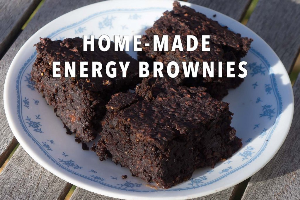 Home-made energy brownies